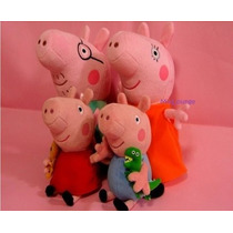 Peppa Pig E Familia-kit Com 4 Personagens Pronta Entrega!