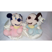 Pelucia Minnie E Mickey Bebê Disney Original Pronta Entrega