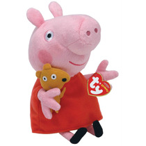 Peppa Pig + Princesa + George - Original By Ty. 23 Cm