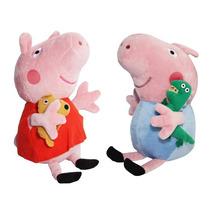 2 Peças Peppa Pig E George Pelúcia - Grátis Dvd Peppa Pig