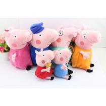 Família Da Peppa Pig 6 Peças - Pronta Entrega
