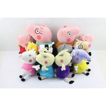 Pelúcia Turma Peppa Pig Amigos 12 Bonecos Pronta Entrega