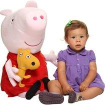 Urso Pelúcia Grande Desenho Peppa Pig 70cm Boneca Gigante