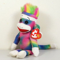 Pelúcia Ty Macaco Arco-íris Rainbow 22 Cm Colorido