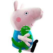 Pelúcia Foffinha Personagem George Peppa Pig 70cm Infantil