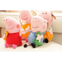 Família Da Peppa Pig Pepa George Papai - Pronta Entrega