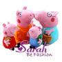 Família Peppa Pig 4 Personagens Importado Ty Pronta Entrega