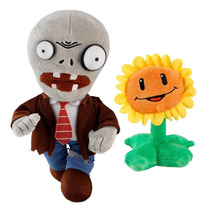 Boneco Plants Vs Zombies Pelúcia Zumbi & Sunflower Multikids
