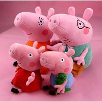 Família Peppa Pig - Peppa, George, Papai E Mamãe Pig
