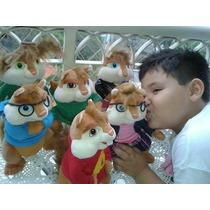 Alvin ,esquiletes,esquilos Pelúcia Original-6peças P.entrega