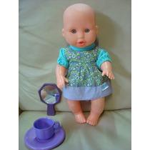 Boneca Bebê Vestido Fisher Price 30cm Brindes