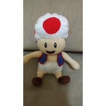 Pelúcia Toad Mario Bros Grande 33cm