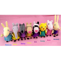 8 Amigos Peppa Pig Novos - 19 Cm - Entrega Imediata.