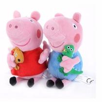Peppa + George Pig 30cm - Envio Imediato !!