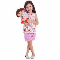 Boneca Dora Aventureira E Botas Nickelodeon Multibrink 38 Cm