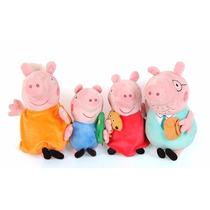 Família Peppa Pig Pelúcia 4 Ursinhos Pronta Entrega Musical