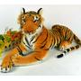Lindo Tigre De Pelúcia Travesseiro Safari - 30 Cms