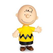 Boneco Charlie Brown Grande Vinil Desenho Snoopy- Grow
