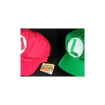 Kit 2 Boinas Luigi E Mario Cosplay - Super Mario Bros