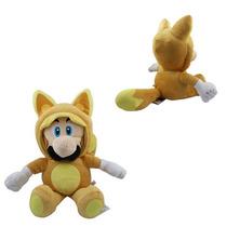 Pelúcia Super Mario - Luigi Kitsuni Raposa - 18 Cm Nintendo