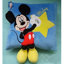 Pelúcia Travesseiro Almofada Mickey 35 X 32 Cms - Disney