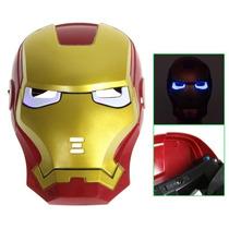 Máscara Do Homem De Ferro Com Luzes