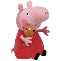 Boneca Peppa Pig Pelúcia Original C/ Etiqueta Ty 18 Cm