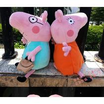 Kit C/4 Pepa Personagens Brinquedo George Pig Pelúcia Boneca