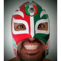 Máscara Luta Livre Mexicana - Rey Misterio Jr - Com Bandeira