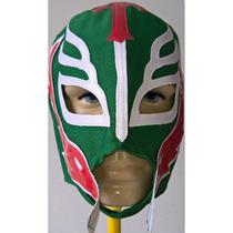Máscara Rey Mistério - Para Adultos Verde Com Vermelho