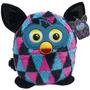 Pelúcia Furby Boom Não Interativo Azul Rosa Preto 25 Cm Novo