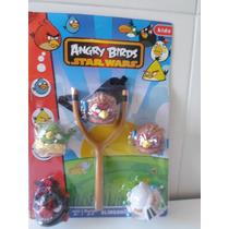 Brinquedo Angry Birds Estilingue Com 5 Bonecos