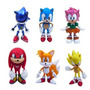 Kit Action Figure Sonic - Conjunto Com 6 Bonecos. Aproveite!
