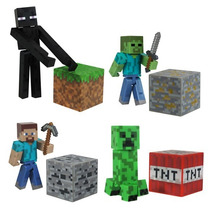 Kit Minecraft Steve? Zombie Creeper Enderman Serie1 Jazwares