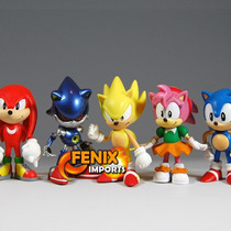 Sonic Miniaturas Sonic 6 Peças! Sonic Tails Knuckles
