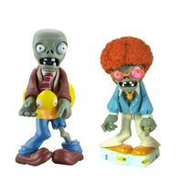 Kit C/ 2 Bonecos Plants Vs Zombies Disco Zombie E Ducky Tube