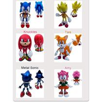 Miniaturas Sonic Bonecos Miniaturas Tails Knuckles Sonic