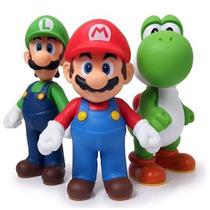 Kit Super Mario Luigi E Yoshi 3 Peças Articulados P/ Entrega