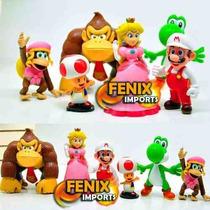 Bonecos Mario Dixie Kong Donkey Kong Peach Toad Mario Fire