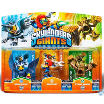 Skylanders Giants 3 Pack - Sonic Boom, Sprocket, Stump Smash