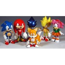 Kit Action Figure Sonic - Conjunto C 6 Bonecos Frete Grátis