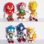 Sonic Conjunto 6 Peças Pvc 7cm