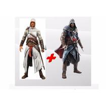 Dupla Altair + Ezio The Mentor 18cm Neca Assassins Creed