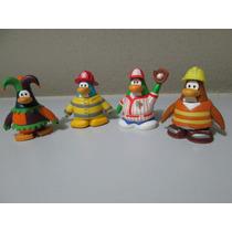 Club Penguin Kit Personagens 5 Cm Com 4 Peças