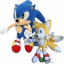 Pelúcia Sonic E Tails Sega Original ~ Suika Games & Animes