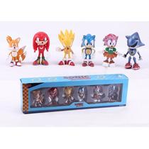Action Figure Super Sonic Tails 6 Peças - Frete Grátis