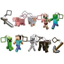 Kit 10 Chaveiros Minecraft Hangers Series 1 - Novos