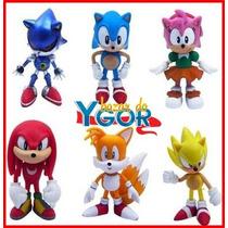 Kit Sonic Action Figure 6 Bonecos - Pronta Entrega
