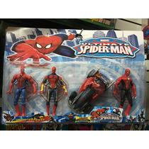 Brinquedo Spider Man Kit C/4 Peças Pronta Entrega