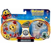 Pac Man - Pac Panic Spiners - Pac E Betrayus - 2 Figuras.
